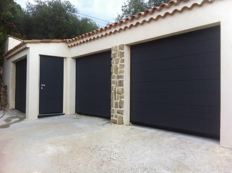 Portes de garage sectionnelles hormann azur domotic - Porte garage sectionnelle hormann ...